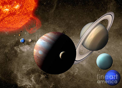 Photograph - The Solar System by Mike Agliolo