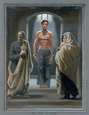 1. The Son Of Man With Job And Isaiah / From The Passion Of Christ - A Gay Vision Art Print by Douglas Blanchard