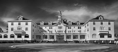 Photograph - The Stanley Hotel Panorama Bw by James BO  Insogna