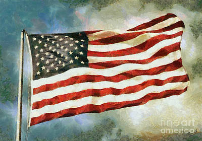 The Stars And Stripes Art Print by Nishanth Gopinathan