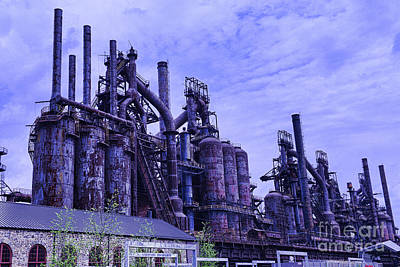 Steam Punk Photograph - The Steel Mill by Paul Ward