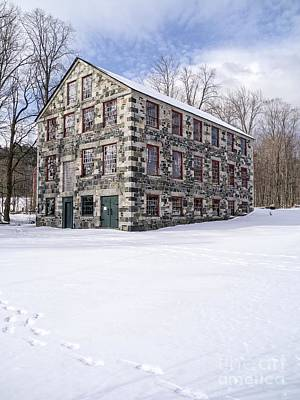Shakers Photograph - The Stone Mill At The Enfield Shaker Museum by Edward Fielding