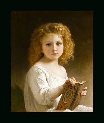Painting - The Story Book by William Adolphe Bouguereau