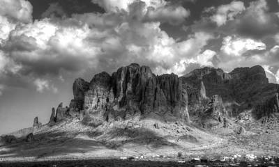 The Supes Photograph - The Superstition Mountains  by Saija  Lehtonen