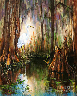 Egret Painting - The Surveyor by Dianne Parks