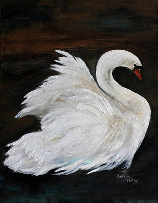 Painting - The Swans Of Albury Manor I by Barbie Batson