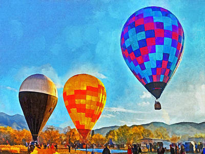 Digital Art - The Taos Mountain Balloon Rally 3 by Digital Photographic Arts