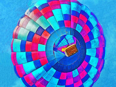 Digital Art - The Taos Mountain Balloon Rally 4 by Digital Photographic Arts