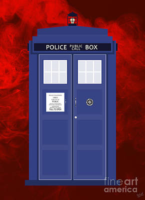 Officer Digital Art - The Tardis by Nishanth Gopinathan