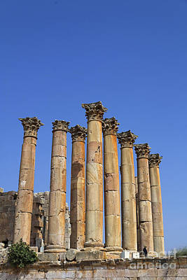 The Temple Of Artemis At Jerash Jordan Art Print