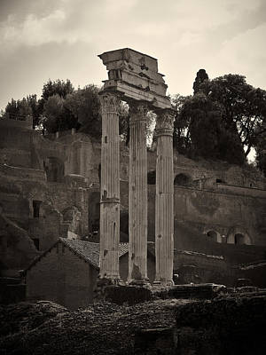 Temple Of Castor And Pollux Photograph - The Temple Of Castor And Pollux by Jouko Lehto