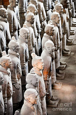 Terracotta Photograph - The Terracotta Army by Delphimages Photo Creations