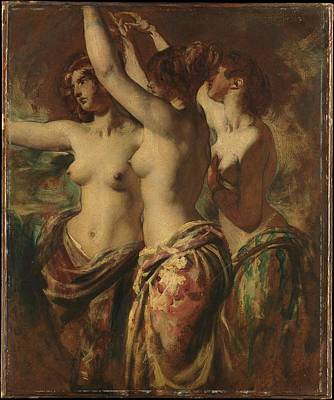 Cardboard Painting - The Three Graces by William Etty