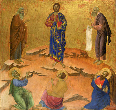 Painting - The Transfiguration by Duccio