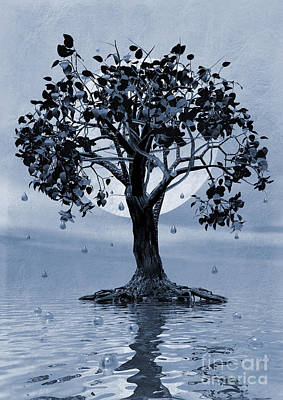 Artistic Digital Art - The Tree That Wept A Lake Of Tears by John Edwards