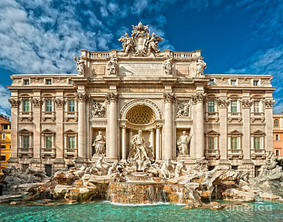 The Trevi Fountain - Rome Art Print by Luciano Mortula