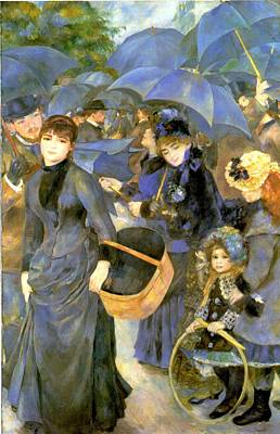 The Umbrellas Art Print by Pierre Auguste Renoir