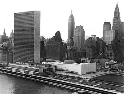 Empire State Photograph - The United Nations Building by Underwood & Underwood