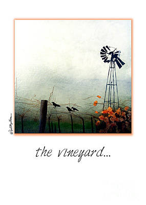 Crows Painting - The Vineyard by Will Bullas