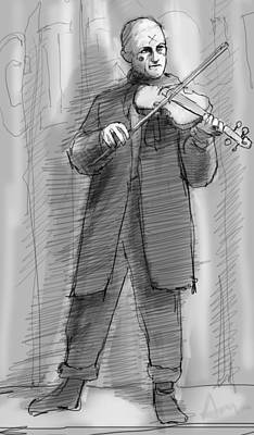 Violin Digital Art - The Violinist by H James Hoff