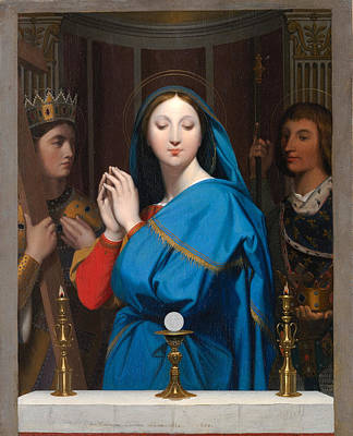Painting - The Virgin Adoring The Host by Jean-Auguste-Dominique Ingres