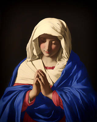 Christian Artwork Painting - The Virgin In Prayer by Mountain Dreams