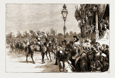 The Visit Of The Crown Prince Of Germany To Spain The Crown Print by Litz Collection
