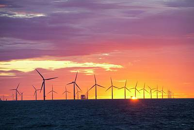 Rotor Blades Photograph - The Walney Offshore Windfarm by Ashley Cooper