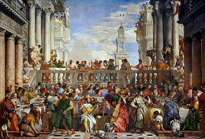 Louvre Painting - The Wedding At Cana by Paolo Veronese
