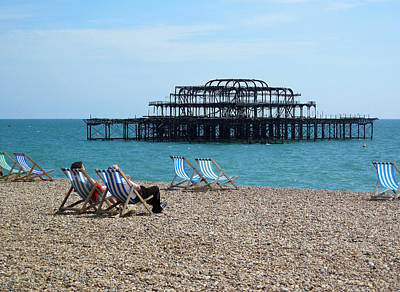 The West Pier Brighton Art Print by Mike Lester