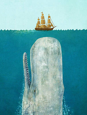 Tall Ship Painting - The Whale  by Terry  Fan