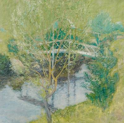 Connecticut Painting - The White Bridge by John Henry Twachtman