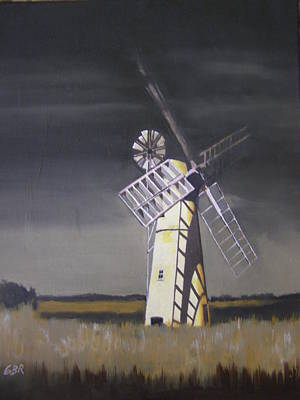 Painting - The Windmill by Eric Burgess-Ray