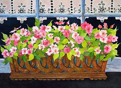 Painting - The Window Box by Mary Ellen Mueller Legault