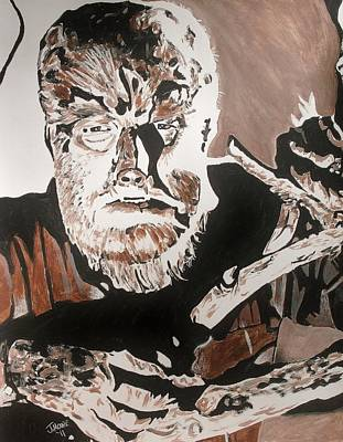 Universal Monsters Mixed Media - The Wolf Man by Jeremy Moore