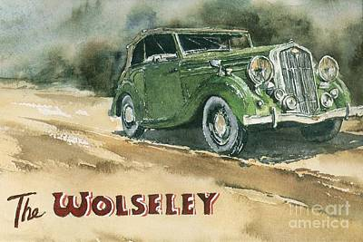 Mixed Media - The Wolseley by Roland Byrne
