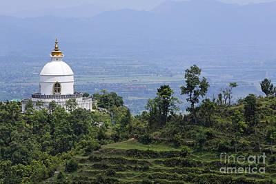 The World Peace Pagoda Pokhara Art Print by Robert Preston