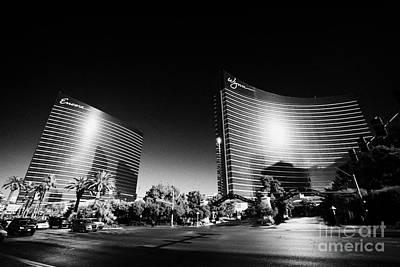 Encore Photograph - the wynn and encore resort and casinos Las Vegas Nevada USA by Joe Fox