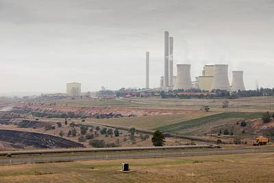 Carbon Dioxide Photograph - The Yan Lang Coal Fired Power Station by Ashley Cooper