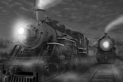 Train Digital Art - The Yard II by Mike McGlothlen