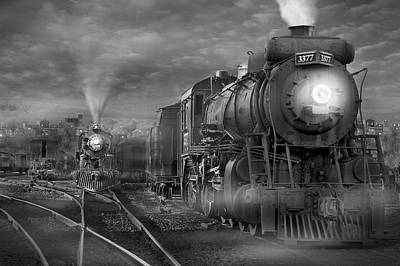 Train Digital Art - The Yard by Mike McGlothlen