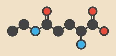 Theanine Herbal Molecule Art Print by Molekuul