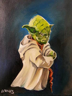 Painting - There Is No Try by Chris  Leon