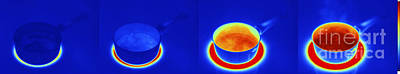 Thermograms Of Heating Up Water Art Print
