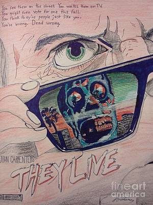 They Live Art Print by Christopher Soeters