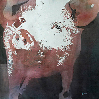 Piggies Painting - This Little Piggy by Tammy Tatum