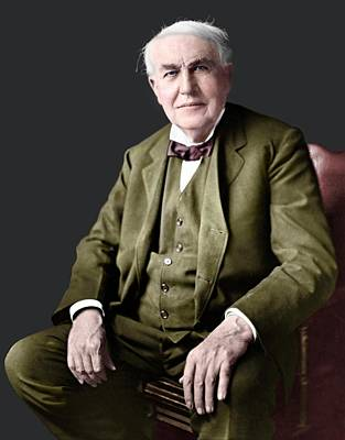 Thomas Edison Art Print by Library Of Congress