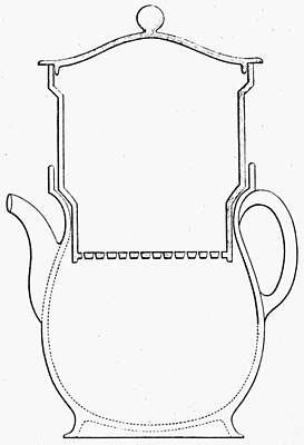 Coffee Drawing - Thompson Drip Coffee Pot by Granger