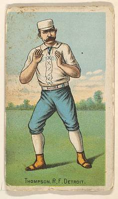 Baseball Cards Drawing - Thompson, Right Field, Detroit by D. Buchner & Co., New York