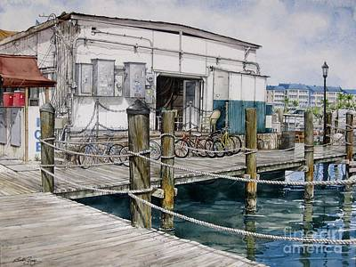 Thompson's Docks  Art Print